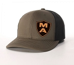 MA Leather Logo Snapback Hat